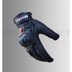 SCIMITAR Drag Short Cuff Leather Gloves (Black)