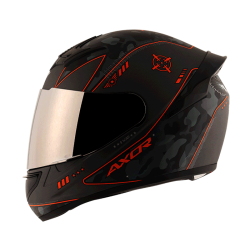 Axor Rage War Matt Orange Helmet