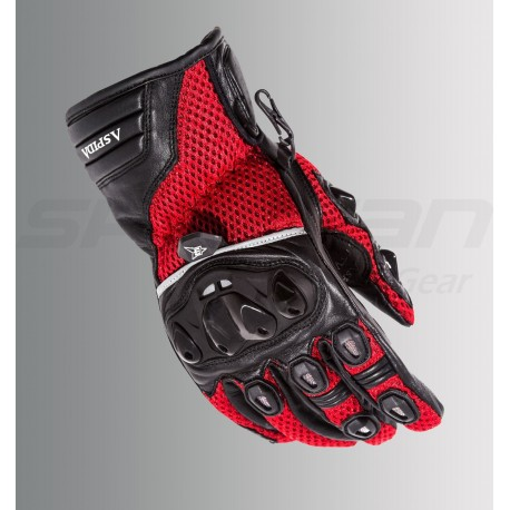 ASPIDA Phaeton Short Cuff Mesh & Leather Gloves (Red)