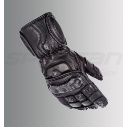 ASPIDA Ares Full Gauntlet Leather Gloves (Full Black)