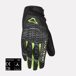 MACNA ASSAULT Short Cuff Fluorescent Yellow Gloves