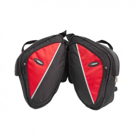 ViaTerra Wolf saddlebags for Bajaj Pulsars