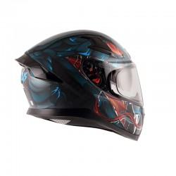 Apex Venomous D/V Dull Black Blue Helmet