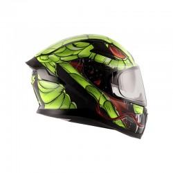 Apex Venomous D/V Helmet ( Black Neon Green)