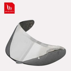 MT - V12 Pin-lock ready Silver Iridium Visor