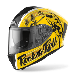 Airoh Spark Rock N Roll Yellow Black Gloss Helmet