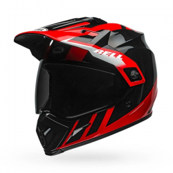 Bell MX-9 Adventure MIPS Dash Helmet (Black red)