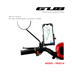 GUB PRO2 Aluminum mirror mount phone holder