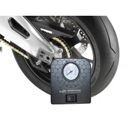 GrandPitstop Electric Tyre Inflator with Dual Connecting Port – Air compressor pump for Car and Motorcycle