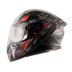 Apex Venomous D/V Black Matt Grey Helmet