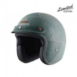 Axor Jet Blue Ostrich Leather Helmet