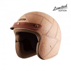 Axor Jet Beige Ostrich Leather Helmet