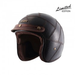 Axor Jet Coffee Animal Leather Helmet