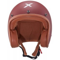AXOR Jet Open Face Dull Chestnut Red Helmet