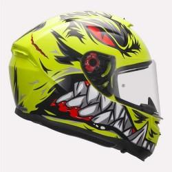 MT Hummer Lycan Gloss Fluorescent Yellow Helmet