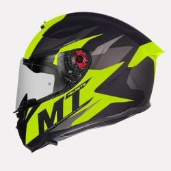 MT Hummer Brave Matt Flo Yellow Helmet