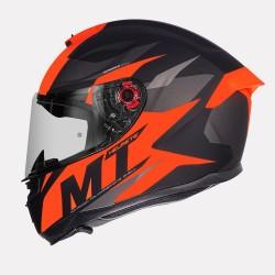 MT Hummer Brave Matt Flo Orange Helmet