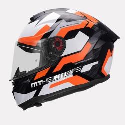 MT Hummer Scratch Gloss Orange Helmet