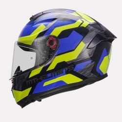 MT Hummer Scratch Gloss Blue Helmet