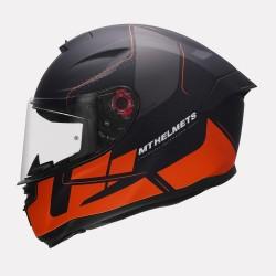 MT Hummer Galant Matt Orange Helmet