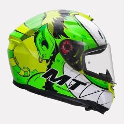MT Hummer Melkor Gloss Flo Yellow Helmet