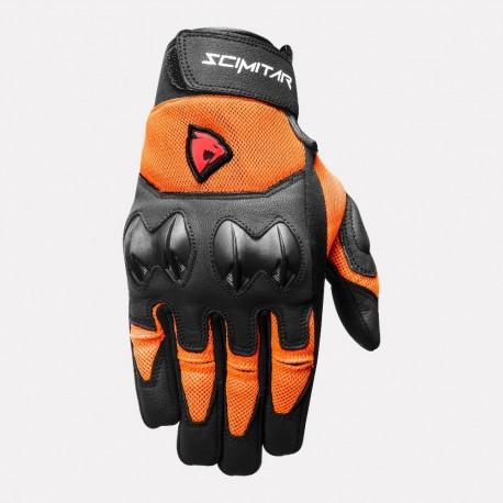 SCIMITAR Stunt Short Cuff Gloves (Orange)