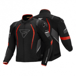 Shima SolidPro Textile Sports Touring Jacket Red