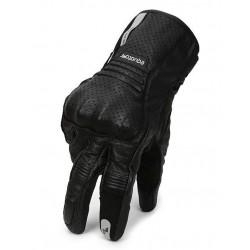 Bikeratti Equator Summer Leather Riding Black Gloves