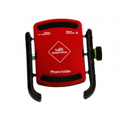 Grandpitstop Jaw Grip Mobile Holder Without Charger (Aluminium)- Red
