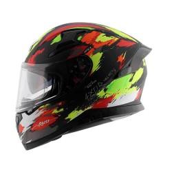 Axor Apex Racer D/V Matt Helmet ( Black Neon Yellow)