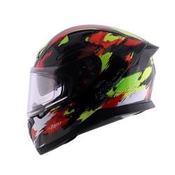 Axor Apex Racer D/V Gloss Helmet ( Black Neon Yellow)