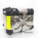 45L Aluminium Finish Top Box With Quick Detach System (X embossed ) With Backrest
