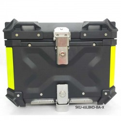 45L Black Top Box With Quick Detach System (X embossed ) With Backrest