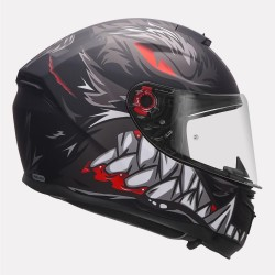MT Helmet Hummer Lycan Black