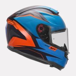 MT Helmet Hummer Stark Gloss Blue Helmet