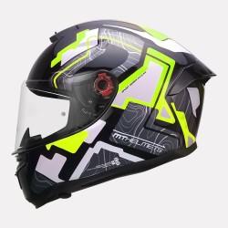 MT Helmet Hummer Code Gloss Flourscent Yellow Helmet