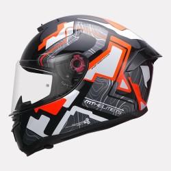 MT Helmet Hummer Code Gloss Flourscent Orange Helmet