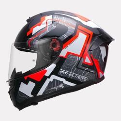 MT Helmet Hummer Code Gloss Red Helmet