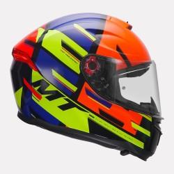 MT Helmet Hummer Pipe Gloss Helmet (Fluorescent Orange)