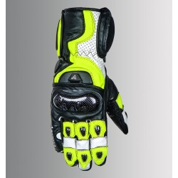 ASPIDA Ares Full Gauntlet Leather Gloves (flo yellow)