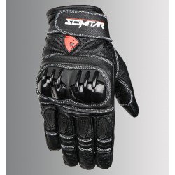 SCIMITAR Drag Short Cuff Leather Gloves (Black)