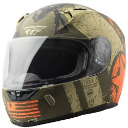 Flyracing Revolt FS Liberator Helmet (Brown/Orange)