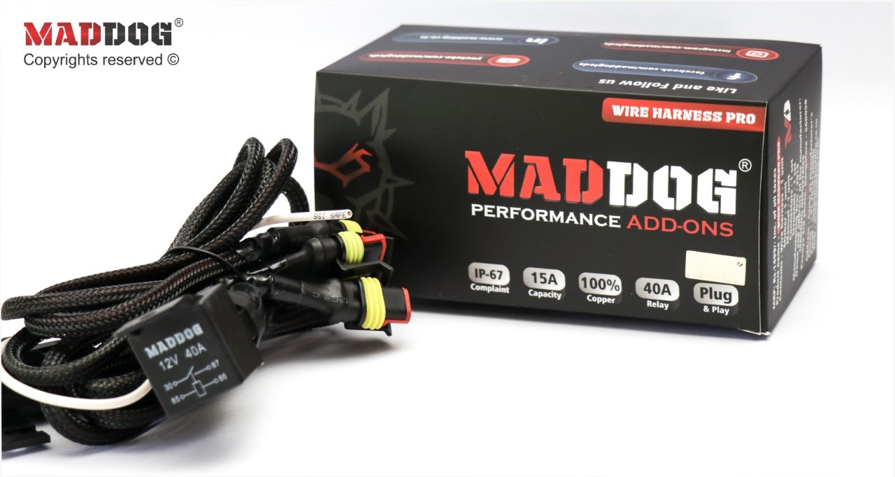 MAD DOG fog light F40W Mad Wiring Harness on