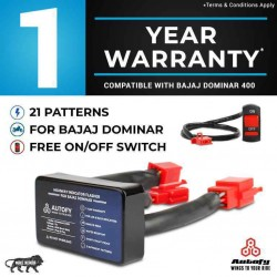 Autofy 1 YEAR WARRANTY StreetGod Plug & Play Highway Indicator Flasher Relay For Bajaj Dominar (LED & Bulb Indicators)