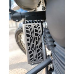 Brushed Stainless Steel Radiator Guard for Royal Enfield Himalayan