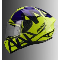Axxis Draken Dekers Gloss Helmet (Fluorescent Yellow & Blue)