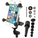 RAM Fork Stem Mount with Short Double Socket Arm & Universal RAM® X-Grip® Phone Cradle
