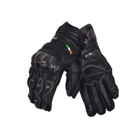 Solace CARBONTEC Semi Gauntlet Leather Gloves