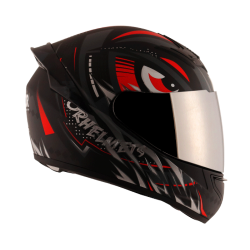 Axor Rage Trogon Matt Black Red Helmet