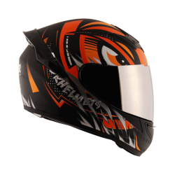 Axor Rage Trogon Matt Black Orange Helmet